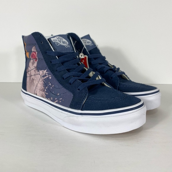 Vans Sk8-Hi Zip Shark Attack Dress Blue Sneakers